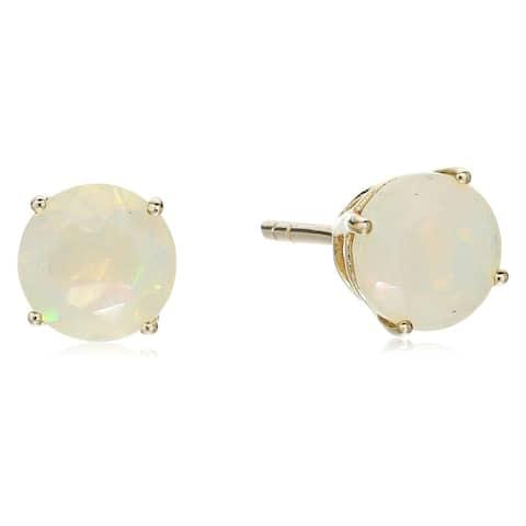 Pinctore 10k Round Stud Opal Earrings