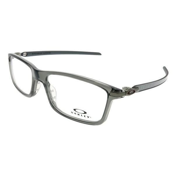 377c671a5d7 Oakley Rectangle OX 8092 Pitchman Carbon 003 Unisex Grey Smoke Frame  Eyeglasses