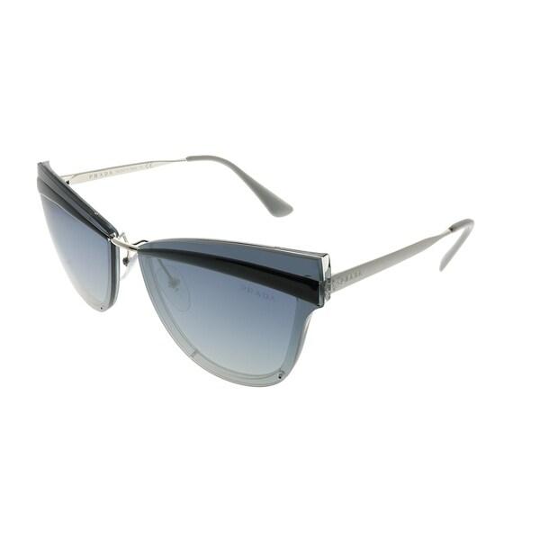 31f2819e8c7 Prada Cat-Eye PR 12US Cinema KI53A0 Woman Grey Frame Blue Gradient Mirror  Lens Sunglasses