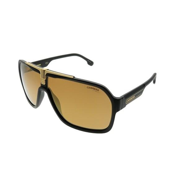4eb77d84e486f Carrera Aviator Carrera 1014 S I46 K1 Unisex Black Gold Frame Gold Mirror  Lens Sunglasses