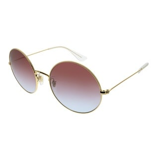 Ray-Ban Round RB 3592 JA-JO 001/I8 Unisex Gold Frame Rose Gradient Lens Sunglasses
