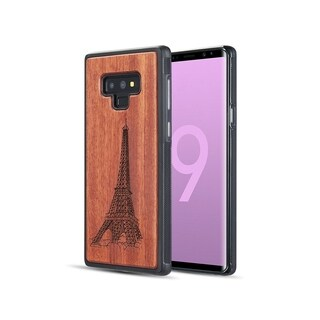 Insten Timber Real Wood Series Paris PC/TPU Rubber Case Cover Compatible With Samsung Galaxy Note 9