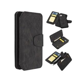 Insten Detachable Magnetic Folio Flip Leather Wallet Flap Pouch Case Cover for Apple iPhone 6/ 6s/ 7/ 8