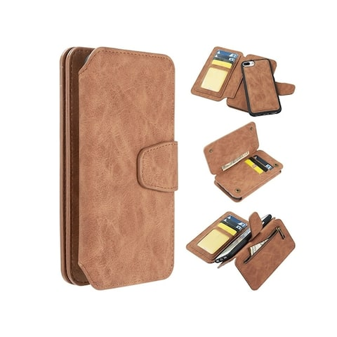 310a4d3184 Insten Detachable Magnetic Folio Flip Leather Wallet Flap Pouch Case Cover  Compatible With Apple iPhone 6
