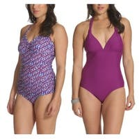 Sun and Sea Basic Missy Tankini Set and One Piece 2 Pack