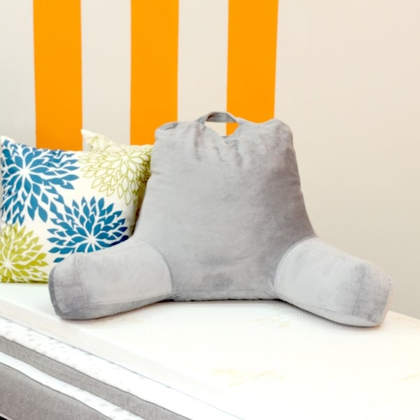 Milliard Reading Pillow with Shredded Memory Foam, Great as Backrest for Books or Gaming