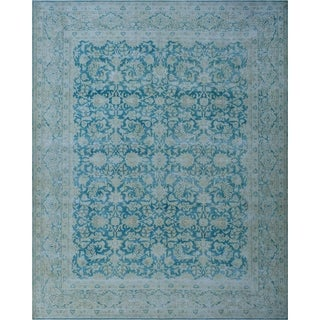 "Noori Rug Fine Vintage Distressed Ellison Blue/Beige Rug - 9'9"" x 12'10"""