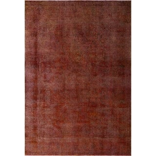 "Noori Rug Distressed Overdyed Jamiel Rust/Brown Rug - 7'10"" x 11'4"""
