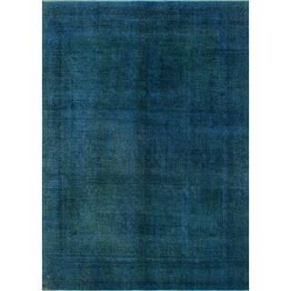 Noori Rug Yasmina Blue/Green Distressed Overdyed Area Rug - 9'3 x 12'4