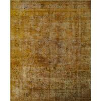 Noori Rug Tatiana Gold/Dark Brown Wool Distressed Overdyed Area Rug - 9'10 x 12'8