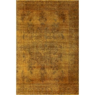 "Noori Rug Distressed Overdyed Barakah Gold/Brown Rug - 6'10"" x 10'7"""