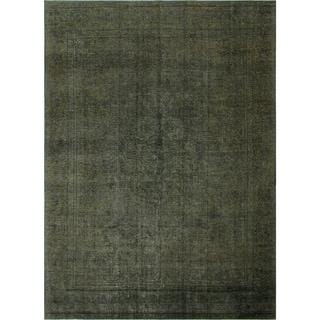 "Noori Rug Distressed Overdyed Asliraf Grey/Green Rug - 8'10"" x 12'7"""