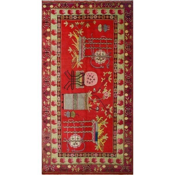 """Noori Rug Vintage Distressed Helena Red/Beige Rug - 6'3"""" x 12'2"""""""