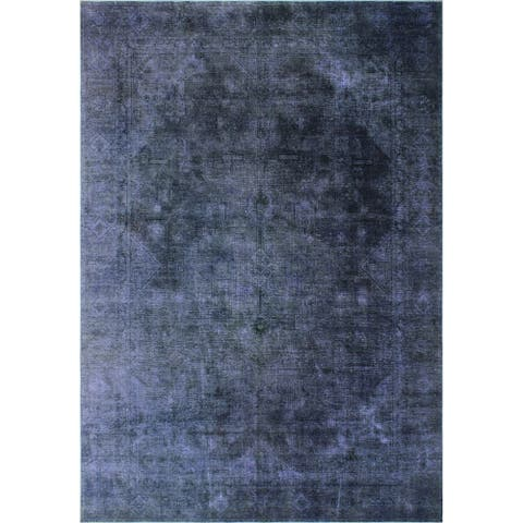 "Noori Rug Distressed Overdyed Sadira Purple/Grey Rug - 8'9"" x 11'11"""