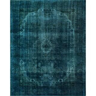 "Noori Rug Distressed Overdyed Frida Blue/Black Rug - 9'0"" x 11'11"""