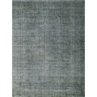 "Noori Rug Distressed Overdyed Ariyah Grey/Purple Rug - 9'8"" x 12'6"""