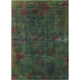 "Noori Rug Distressed Overdyed Samirah Green/Purple Rug - 7'10"" x 11'0"""