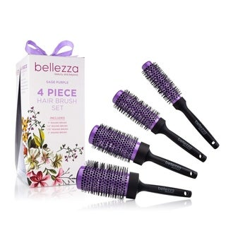 Bellezza Blush Pink Ceramic Round Brush Set