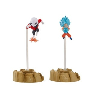 Bandai America Dragon Ball Super Nano Figures 2Pack, Super Saiyan Blue Goku and Jiren - multi