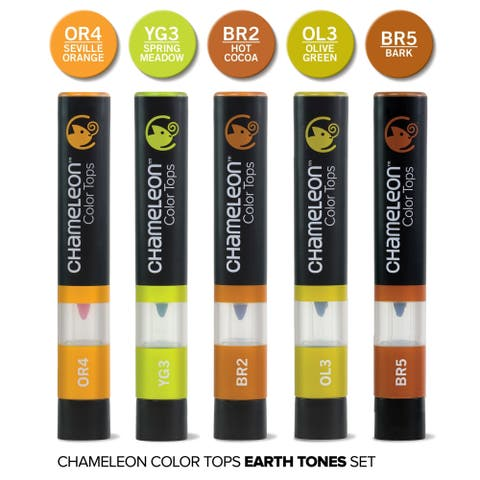 Chameleon 5 Color Tops Earth Tones Set - Multi