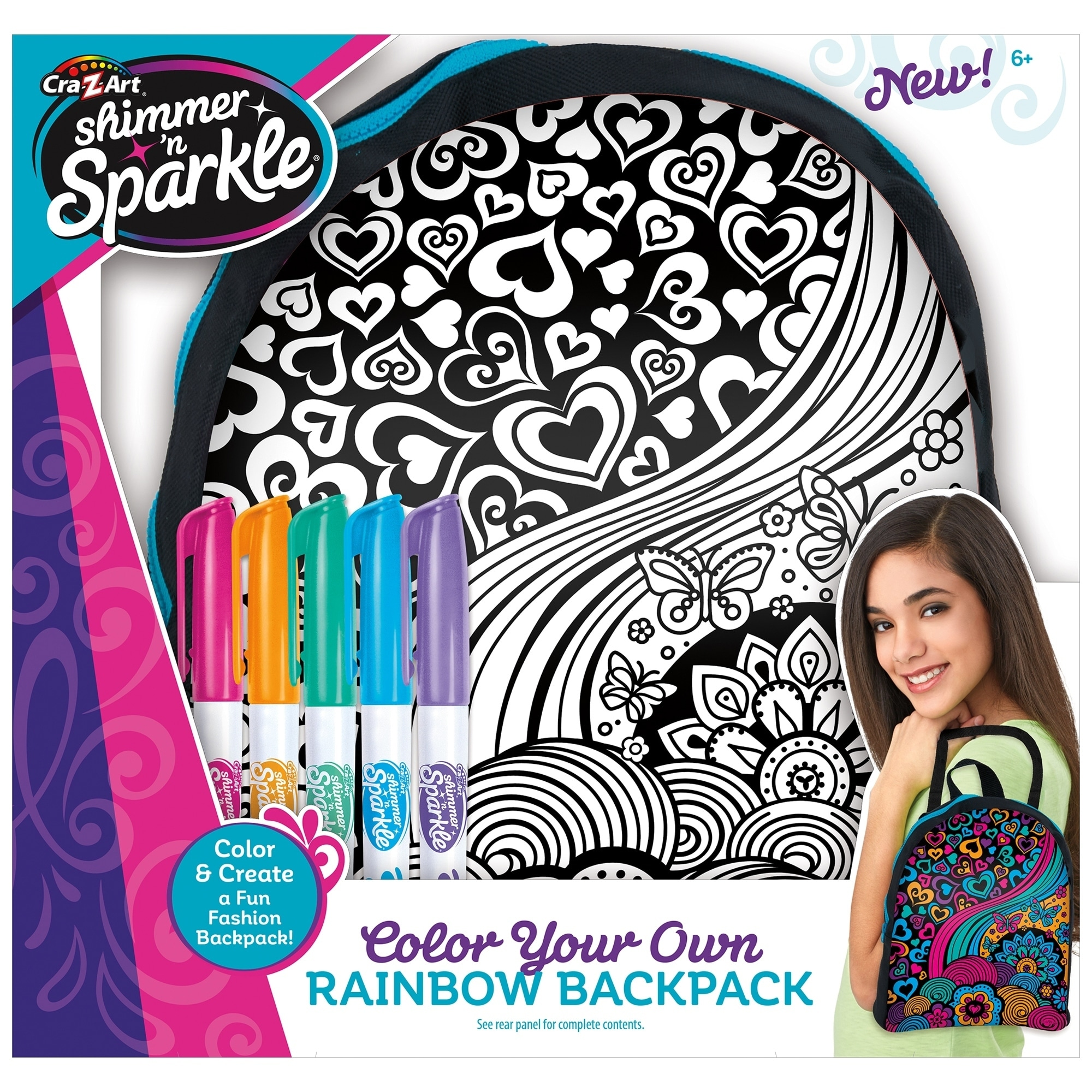 Shop Crazart Shimmer N Sparkle Color Your Own Backpack Multi Overstock 24308944