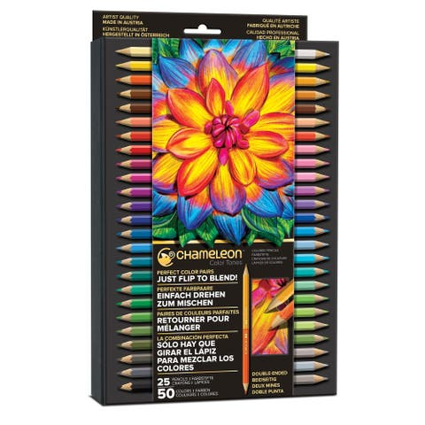 Chameleon Color Tones Pencils Pencils, 50 colors - Multi