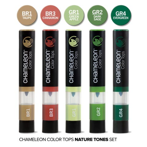 Chameleon 5 Color Tops Nature Tones Set - Multi