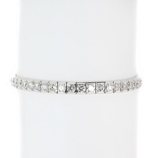 Michael Valitutti Sterling Silver White Cubic Zirconia Bracelet