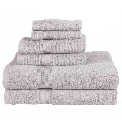 White Six Piece Royal Classic Bath Towel Set