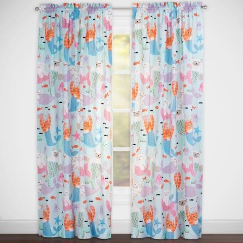 Crayola® Purrmaids 84-Inch Rod Pocket Window Curtain Panel