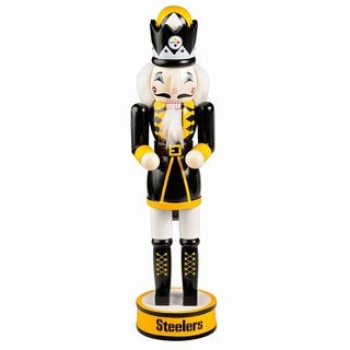 Forever Collectibles Pittsburgh Steelers Holiday Nutcracker - multi