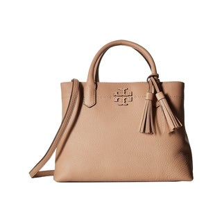 Tory Burch Devon Sand McGraw Triple-Compartment Satchel