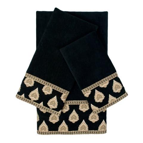 Sherry Kline Vanceburg 3-piece Embellished Towel Set - 13 x 18 x 0.5/16 x 25 x 0.5/25 x 48 x 0.5
