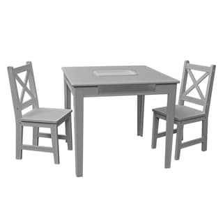 Kids Table and Chairs - 3pc Gray