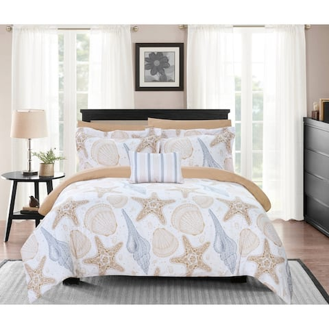 """Chic Home Eula 8 Piece Reversible Comforter Set """"Life in the Sea"""""""