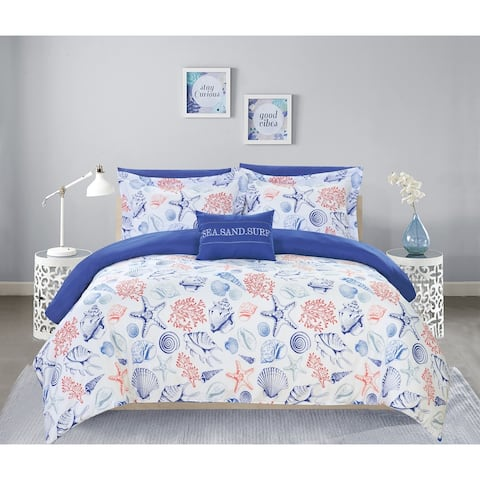 "Chic Home Armil 8 Piece Reversible Comforter Set ""Sea Sand Surf"" Theme"