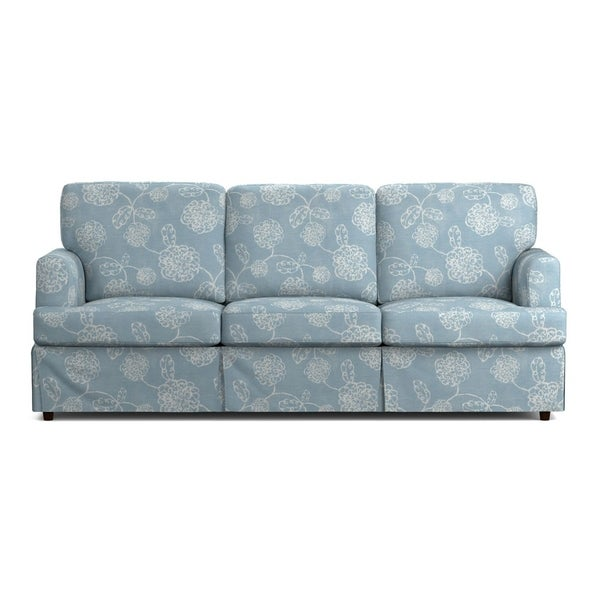 Chenille Skirted Sofa: Shop Handy Living Orlando SoFast Blue Floral Slipcover