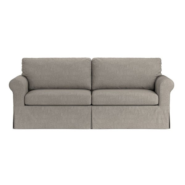 Shop Handy Living Bella SoFast Dove Grey Linen Slipcover ...