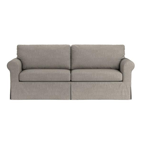 Shop Handy Living Bella SoFast Dove Grey Linen Slipcover Sofa with ...