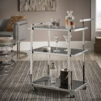 Chivas Chrome Finish Metal Bar Cart by iNSPIRE Q Bold