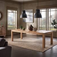 Kashton Reclaimed Natural Finish 96-inch Extending Dining Table by iNSPIRE Q Artisan