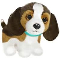 Wuffles Beagle Plush Dog, Sitting - Brown