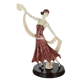 "Santini Authentic Red Figurine Catherine Dancer Statue Made in Italy 18"" x 10"""