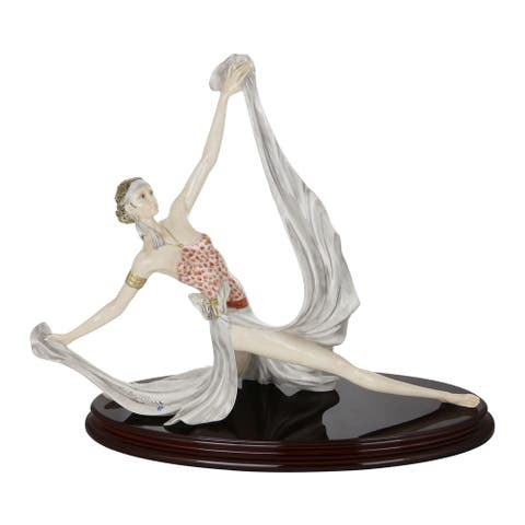 Santini Authentic Figurine Martin Liberty Statue Bending Figurine Made in Italy
