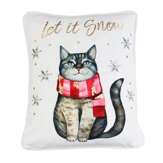 "Thro 14x18"" Leon Let It Snow Foil Print Sequin Mandee Velvet Pillow"