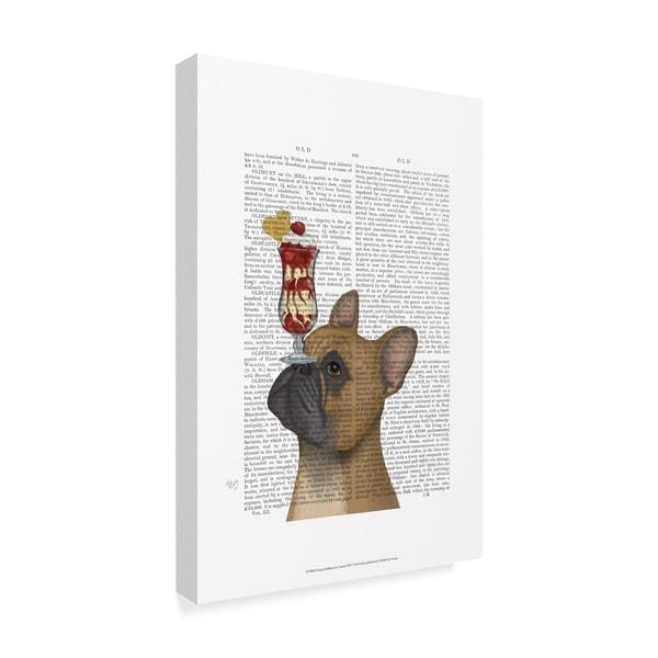 Fab Funky 'French Bulldog Ice Cream Text' Canvas