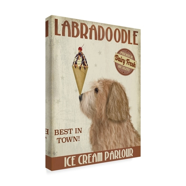 Fab Funky 'Labradoodle, Golden, Ice Cream' Canvas