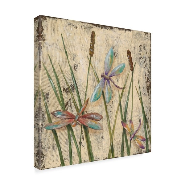 Jade Reynolds 'Dancing Dragonflies I' Canvas Art