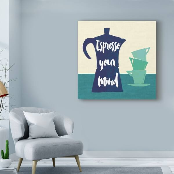 Sue Schlabach Linen Coffee I Light Canvas Art Overstock 24312373