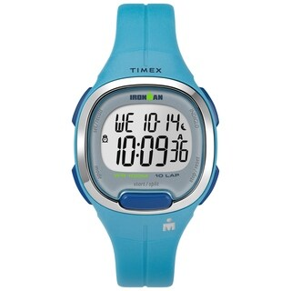 Timex Women's TW5M19500 Ironman Transit Mid-Size Teal/Silver-Tone Resin Strap Watch - One size